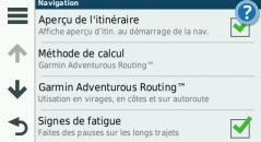 Menu navigation