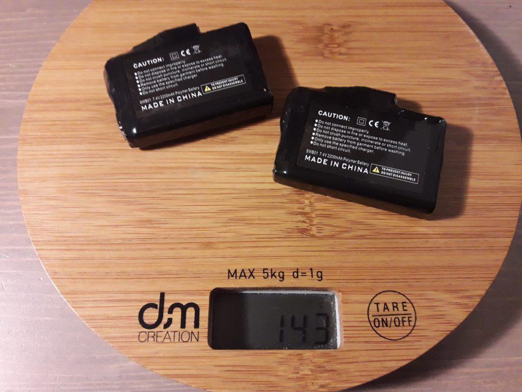 Les deux batteries des gants DXR Heatwaves pèsent 143 grammes