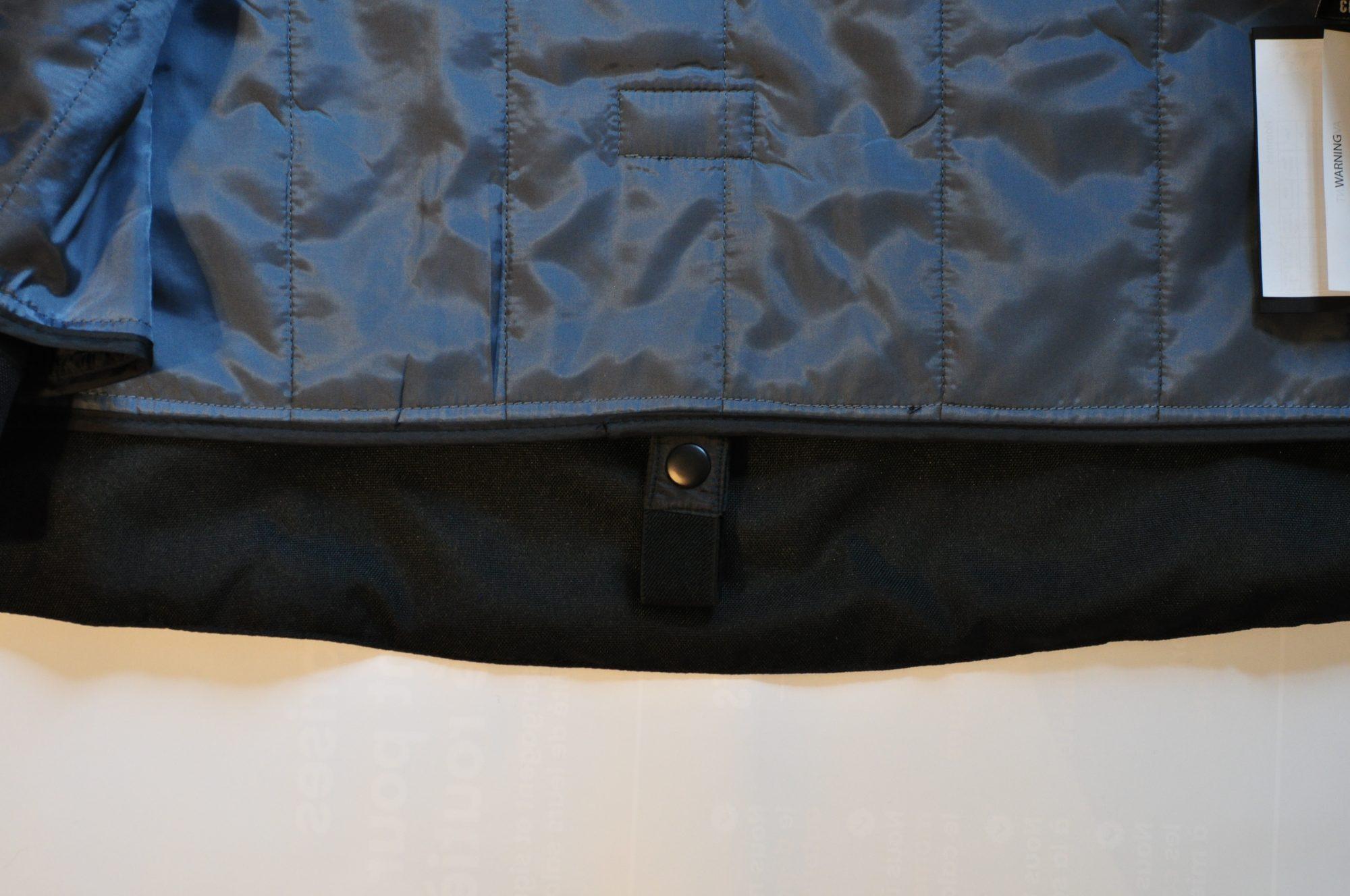 Blouson Furygan ARROW: détail patte fixation ceinture