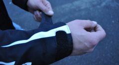 Blouson Furygan ARROW : détail velcro manche ouverte