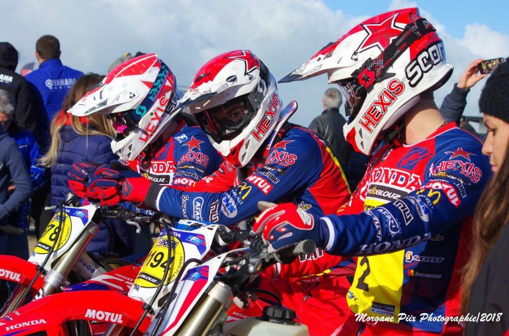 Richard Fura, Xavier Boog et Mathys Boisramé, les brillants pilotes du Team SR Motoblouz – Photo Morgane Piix