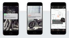 Les notifications envoyées en cas de mouvement de votre moto ainsi que l'interface de localisation