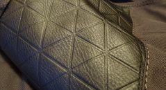 Le cuir gaufré du plus bel effet sur le blouson Icon 1000 Squalborn