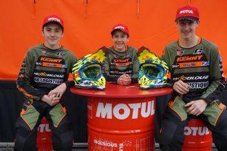De gauche à droite : Matheo et Florian Miot, Thibault Maupin
