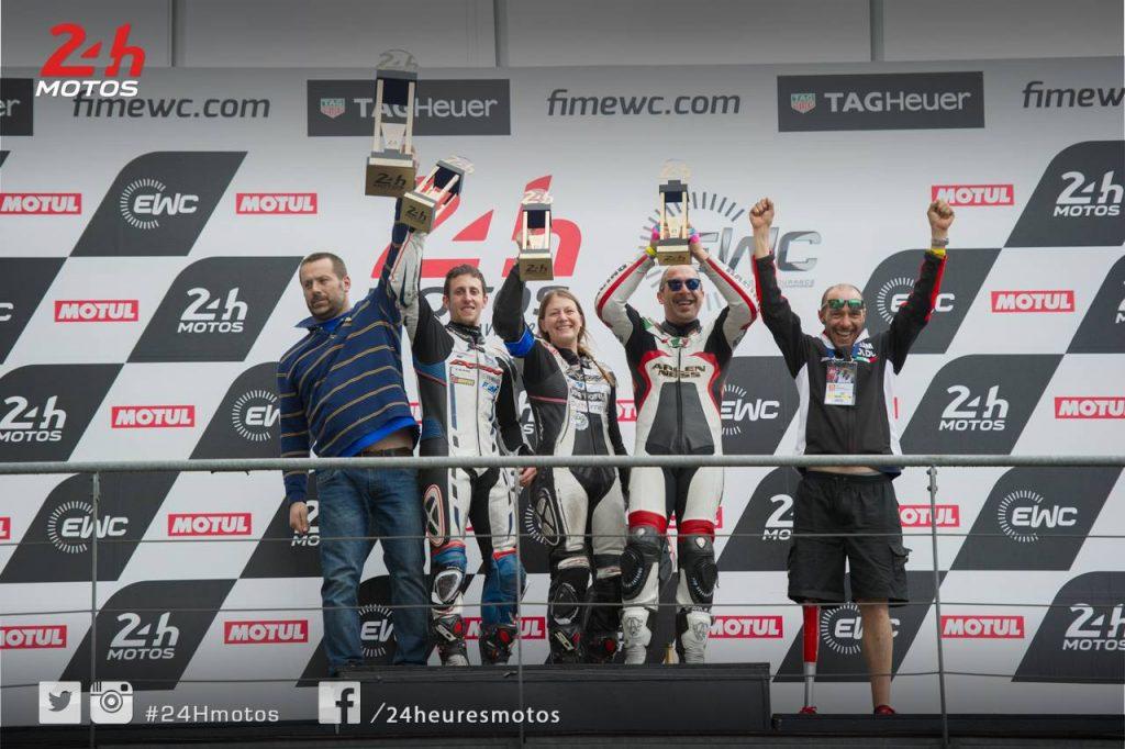 En 2017, Margaux termine les 24h du Mans sur le podium Supertwin avec le Special Team Ducati