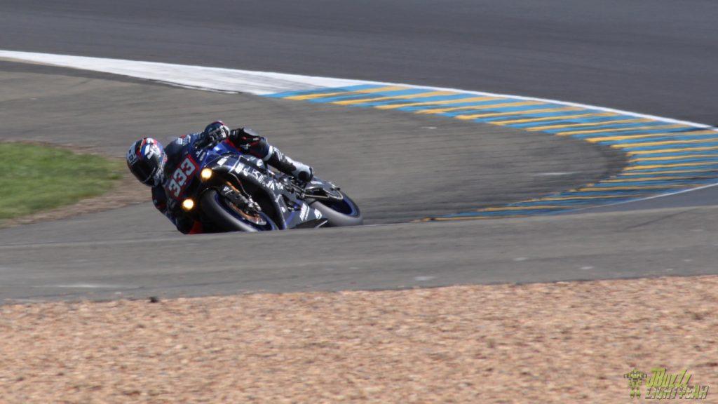 Axel Maurin, pilote Motoblouz, sur la Yamaha du Team Viltaïs