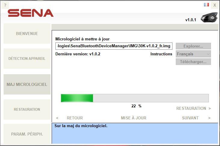 SENA 30K Mise à jour du firmware