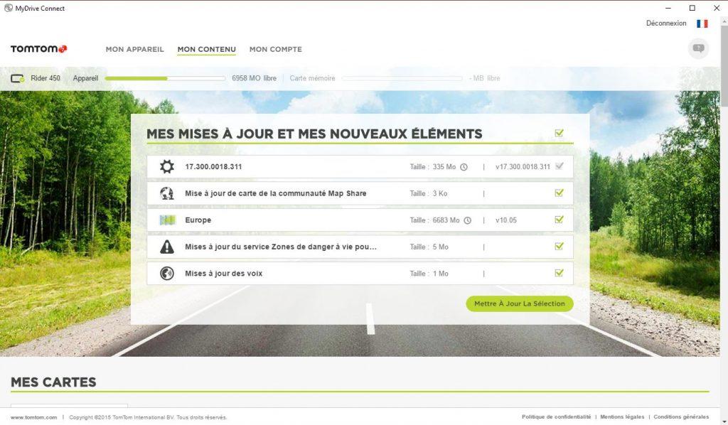 MyDrive Connect – liste mises à jour