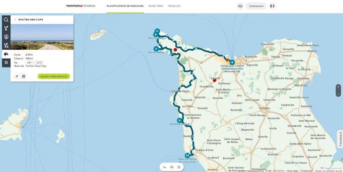 MyDrive permet aussi de consulter la bibliothèque de roadbook disponible en ligne