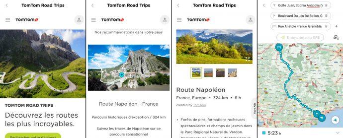 """Consultation des roadtrips proposés en ligne sur """"My Drive"""" sur smartphone et planification en quelques instants !"""
