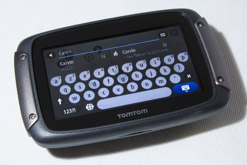 TomTom Rider 450 – Clavier et saisie prédictive