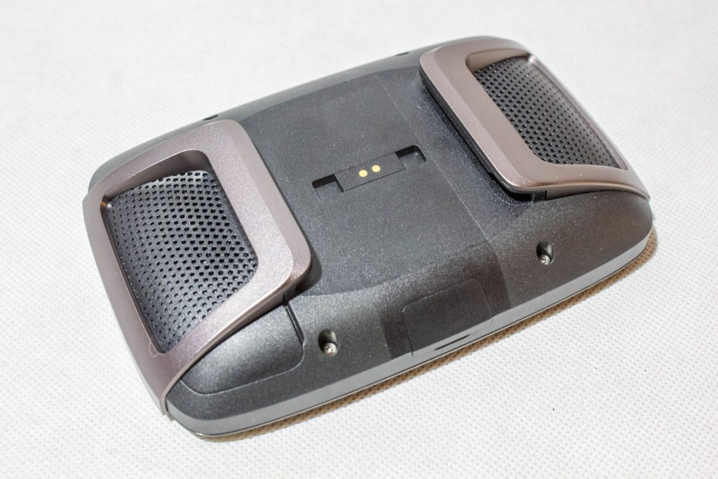 TomTom Rider 450 – dos du GPS et renforts métalliques