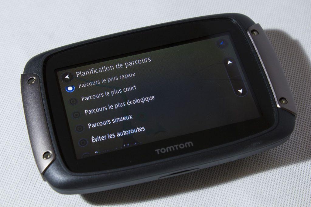 TomTom Rider 450 – préférences planification de parcours