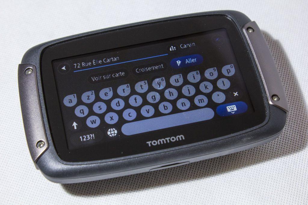 TomTom Rider 450 – saisie en mode nuit
