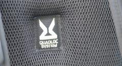 Le Quadloc système, permet de bien verrouiller le sac