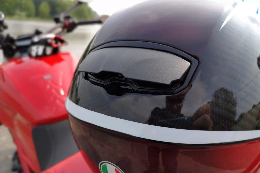 Casque AGV SportModular – spoiler arrière et extraction d'air
