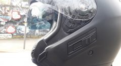 Casque Jet Dexter Soddy : close up commande solaire