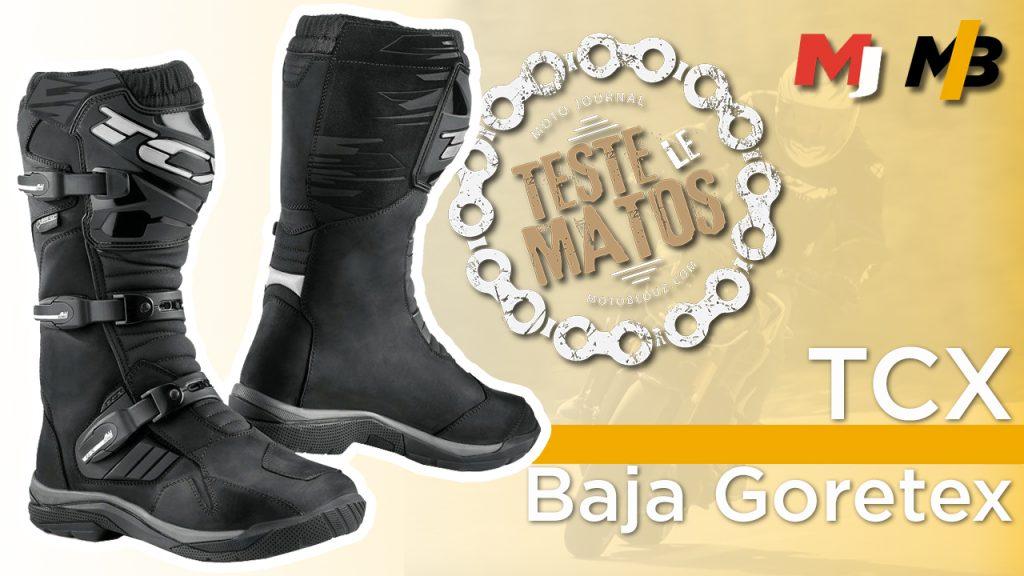 Essai bottes TCX Baja Gore-Tex par Moto Journal
