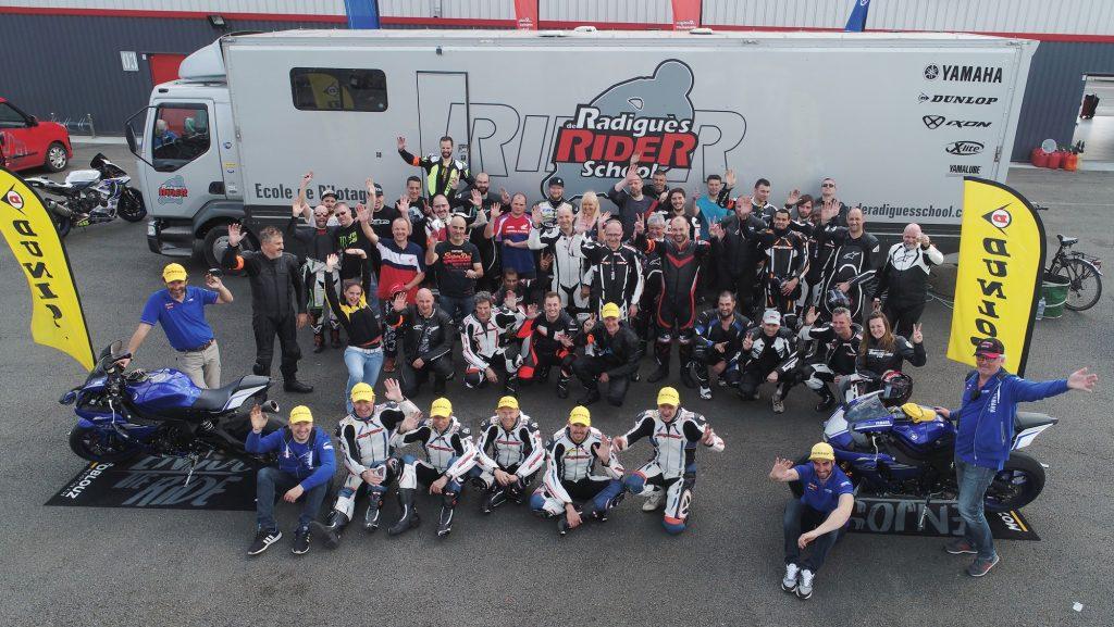 La fine équipe des participants et des formateurs DRRS pour ces deux journées Motoblouz !
