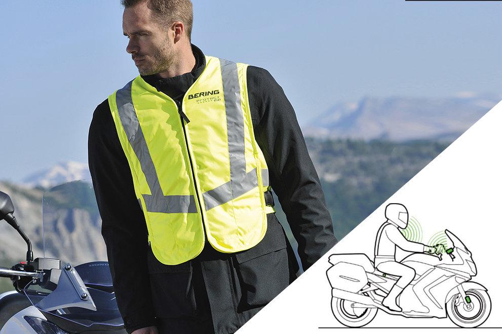 L'airbag radiocommandé nécessite l'installation de capteurs sur la moto