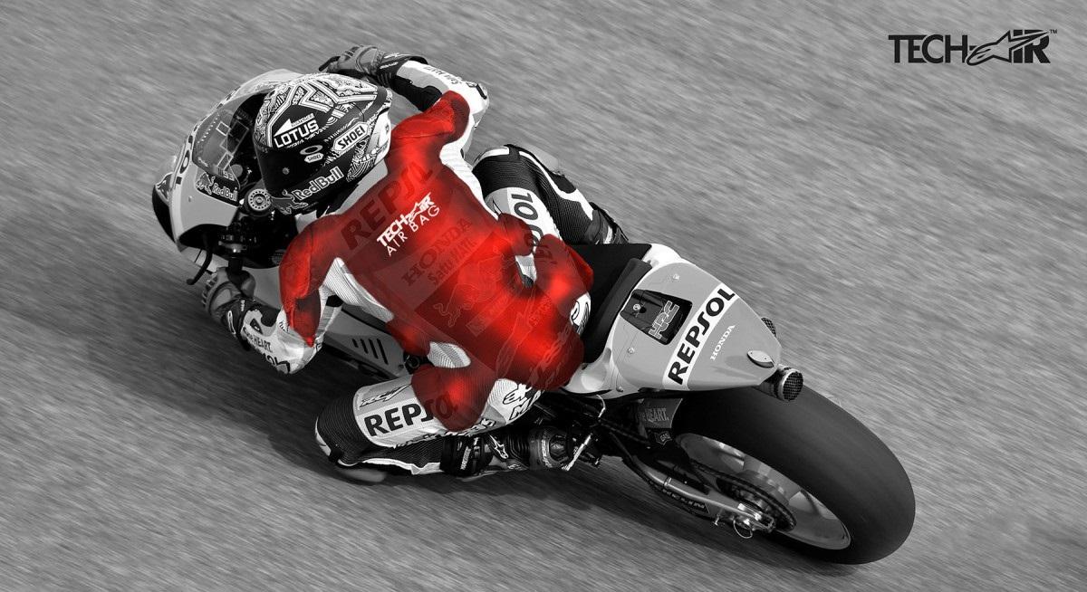 Marc Marquez, pilote MotoGP, et sa combinaison Alpinestars avec AIrbag Tech Air