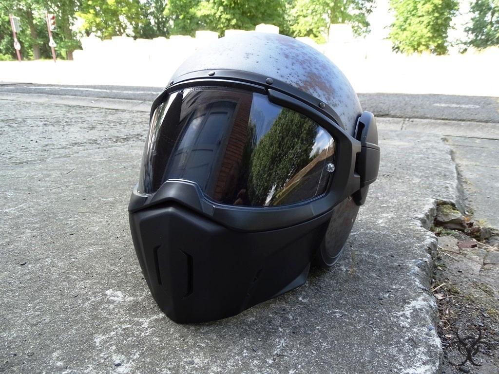Aération du masque sur le casque Caberg Ghost