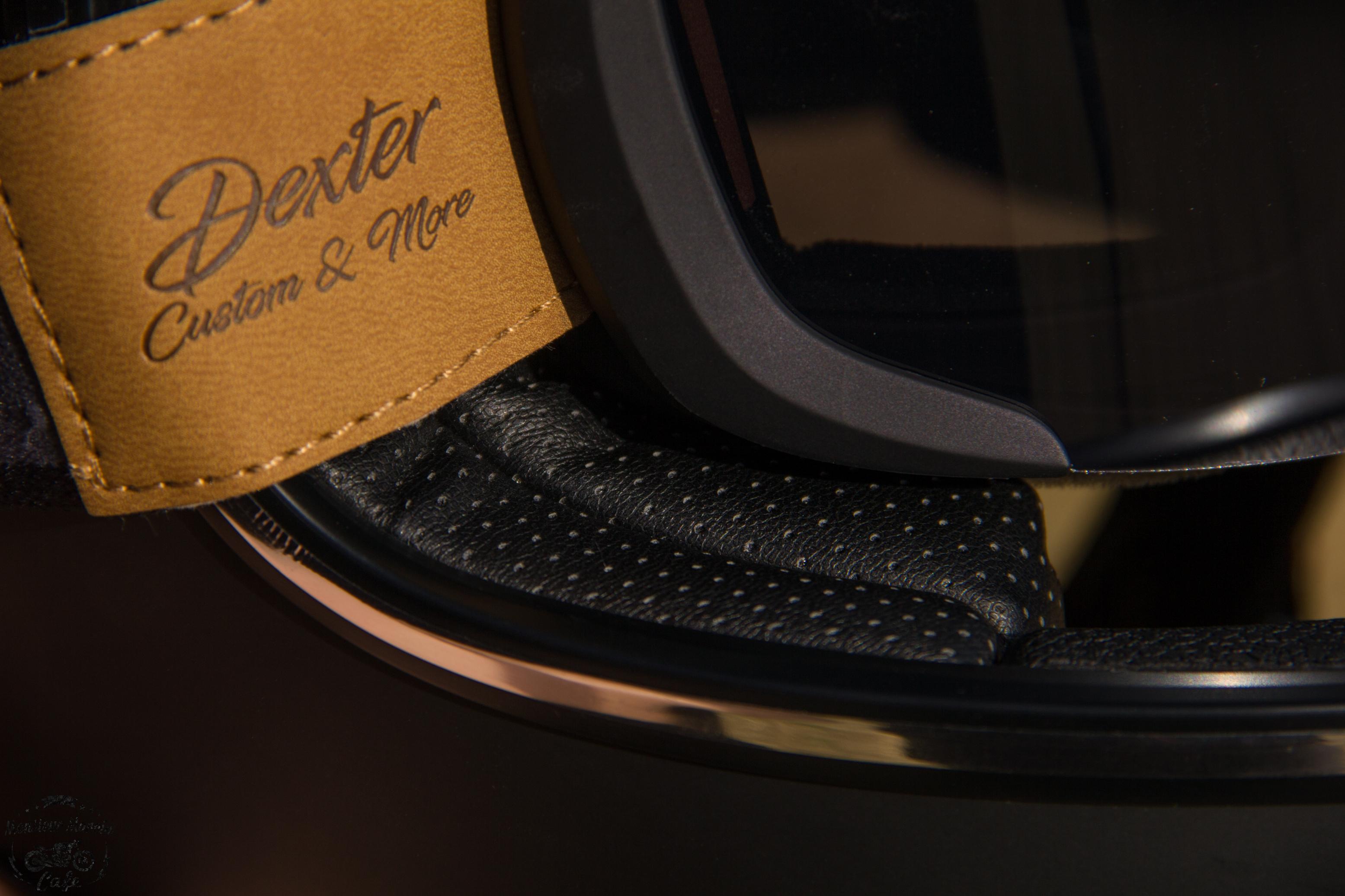 Cuir micro-perforé à l'intérieur du casque Dexter Marty