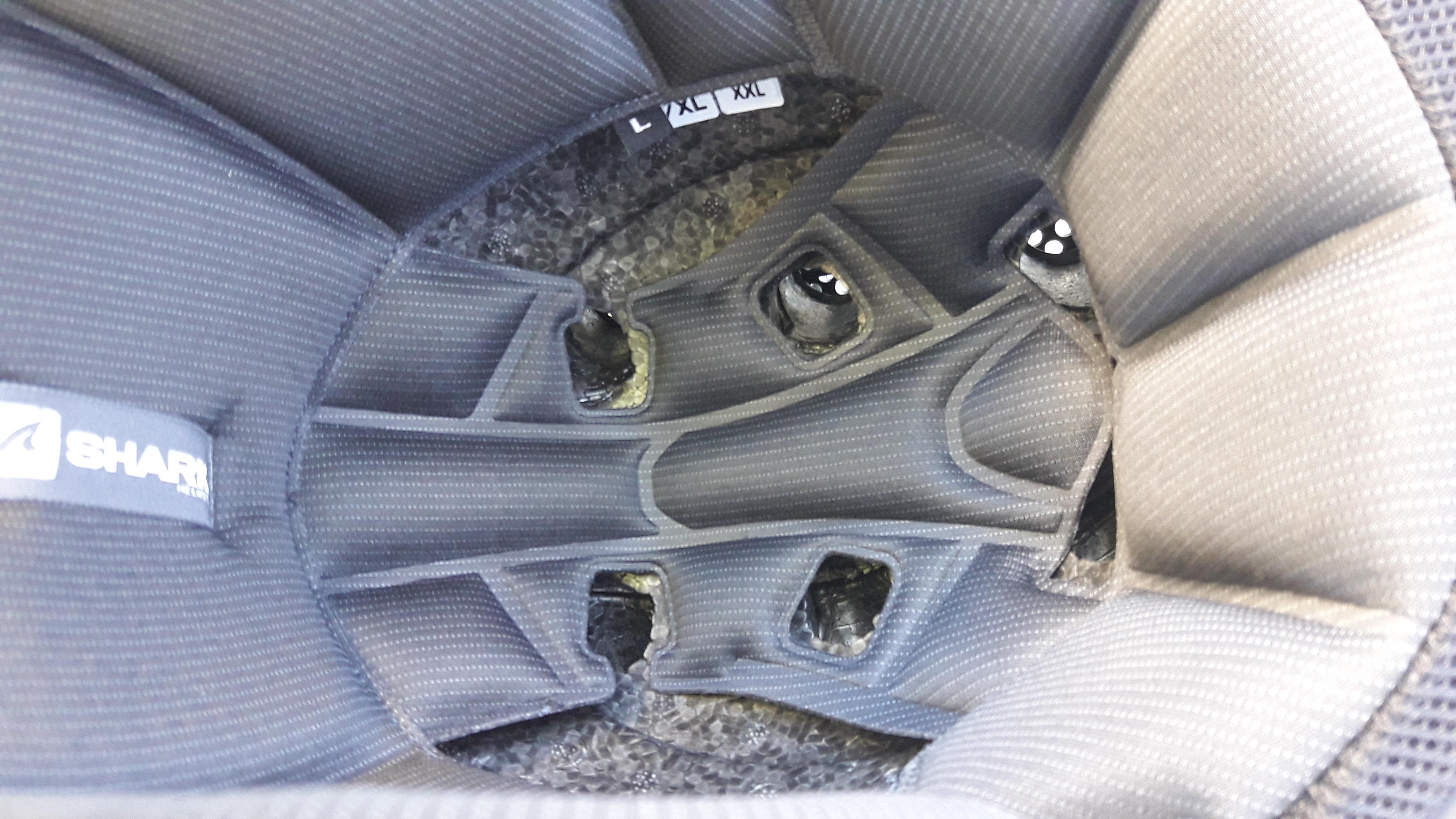 Aérations intérieures du casque jet Shark X-Drak