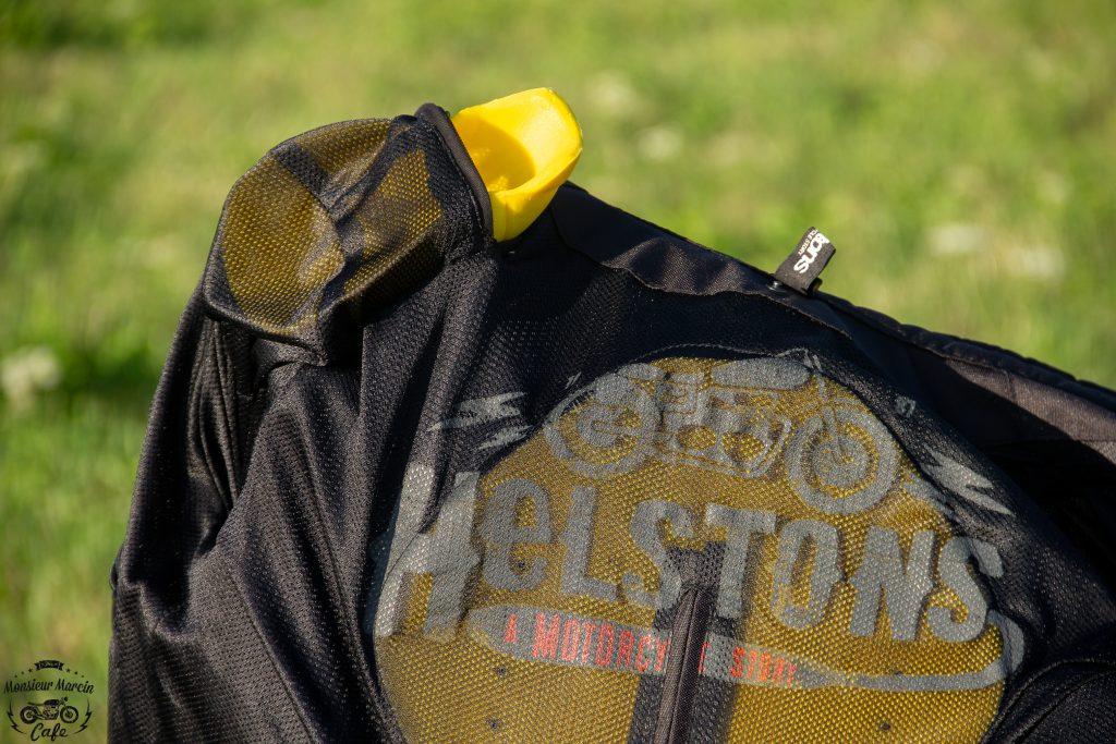 Des protections d'épaule homologuées pour le blouson Helstons Modelo Mesh