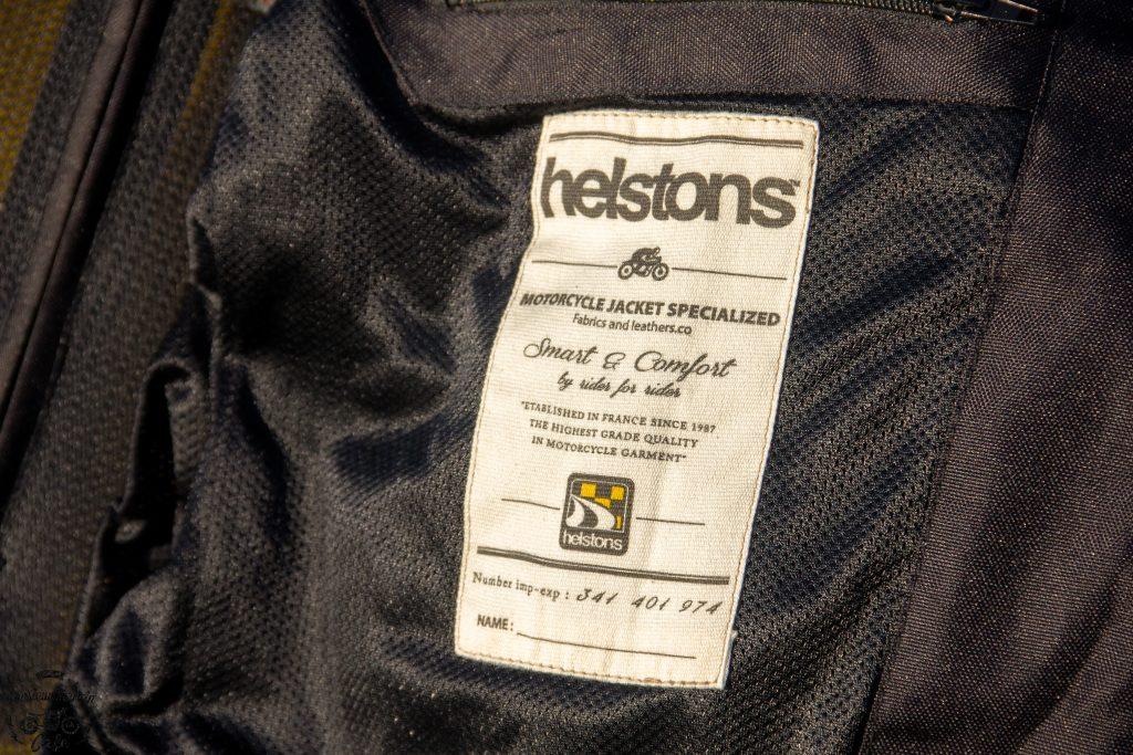 Étiquette imprimée à l'intérieur du Blouson Helstons Modelo Mesh