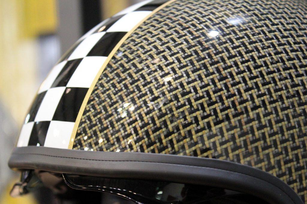 Calotte de casque carbone et Kevlar®