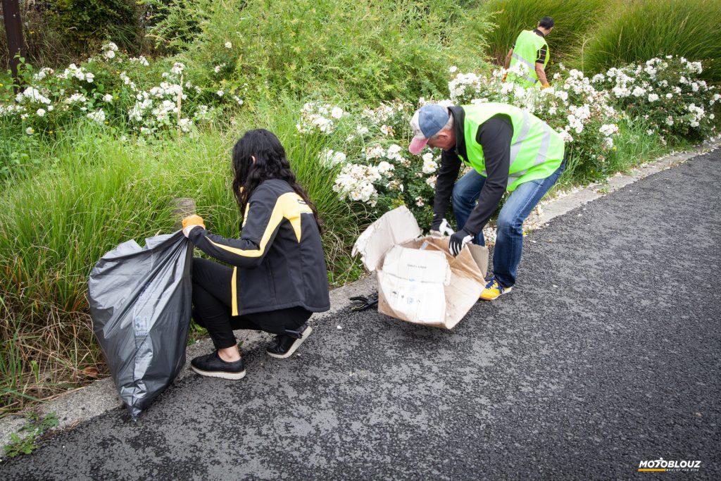 L'équipe Motoblouz s'était mobilisée le 13 septembre pour Clean Up les alentours de Carvin !