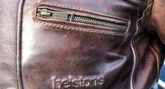 Détails et finitions du blouson Helstons Reno