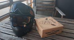 Casque Astone SUPER RETRO, accessoirisé du masque DEXTER BINOCLE