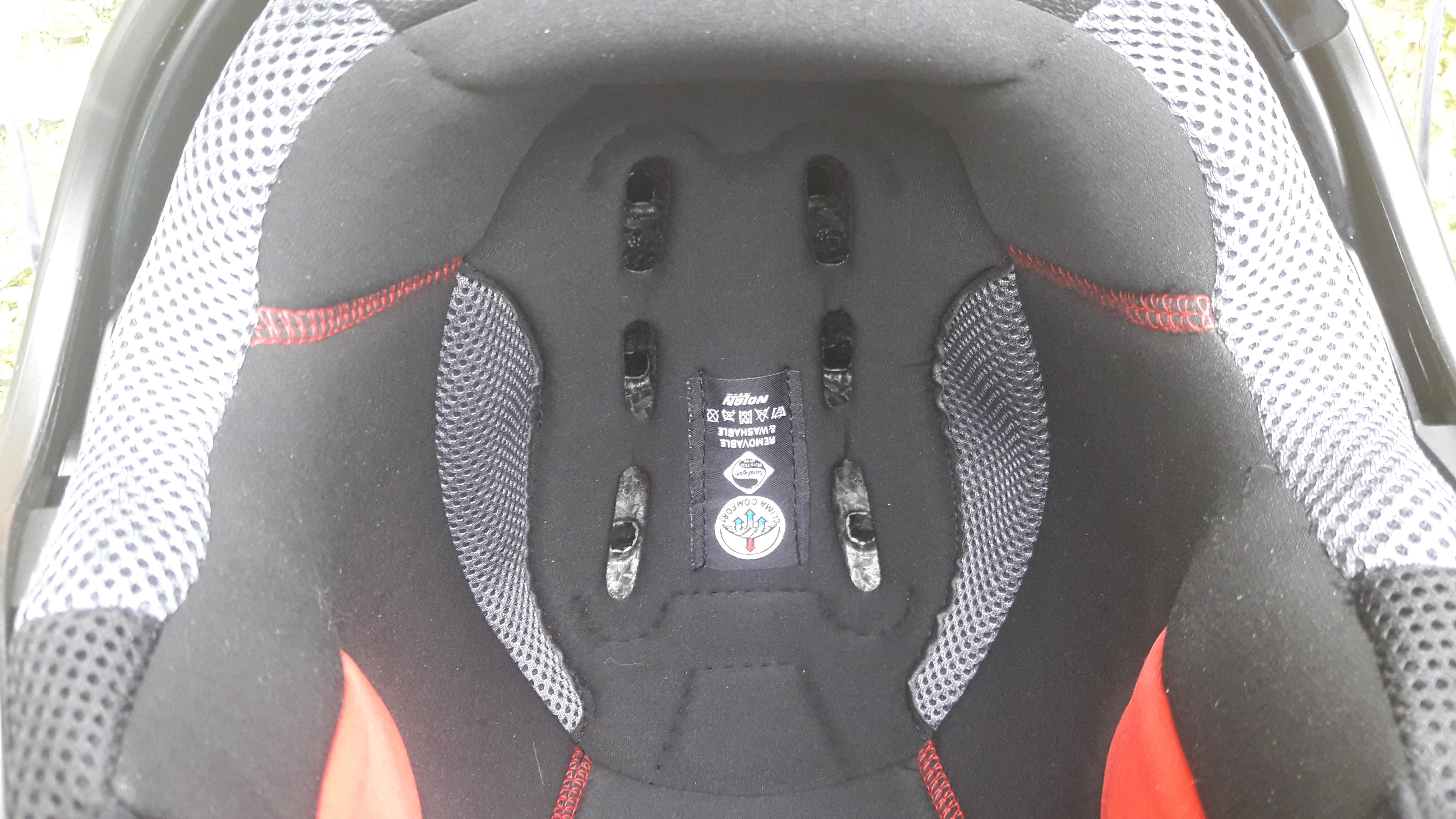 Intérieur du casque jet Nolan N21 Visor