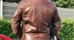 Blouson de cuir vintage le blouson Helstons Reno
