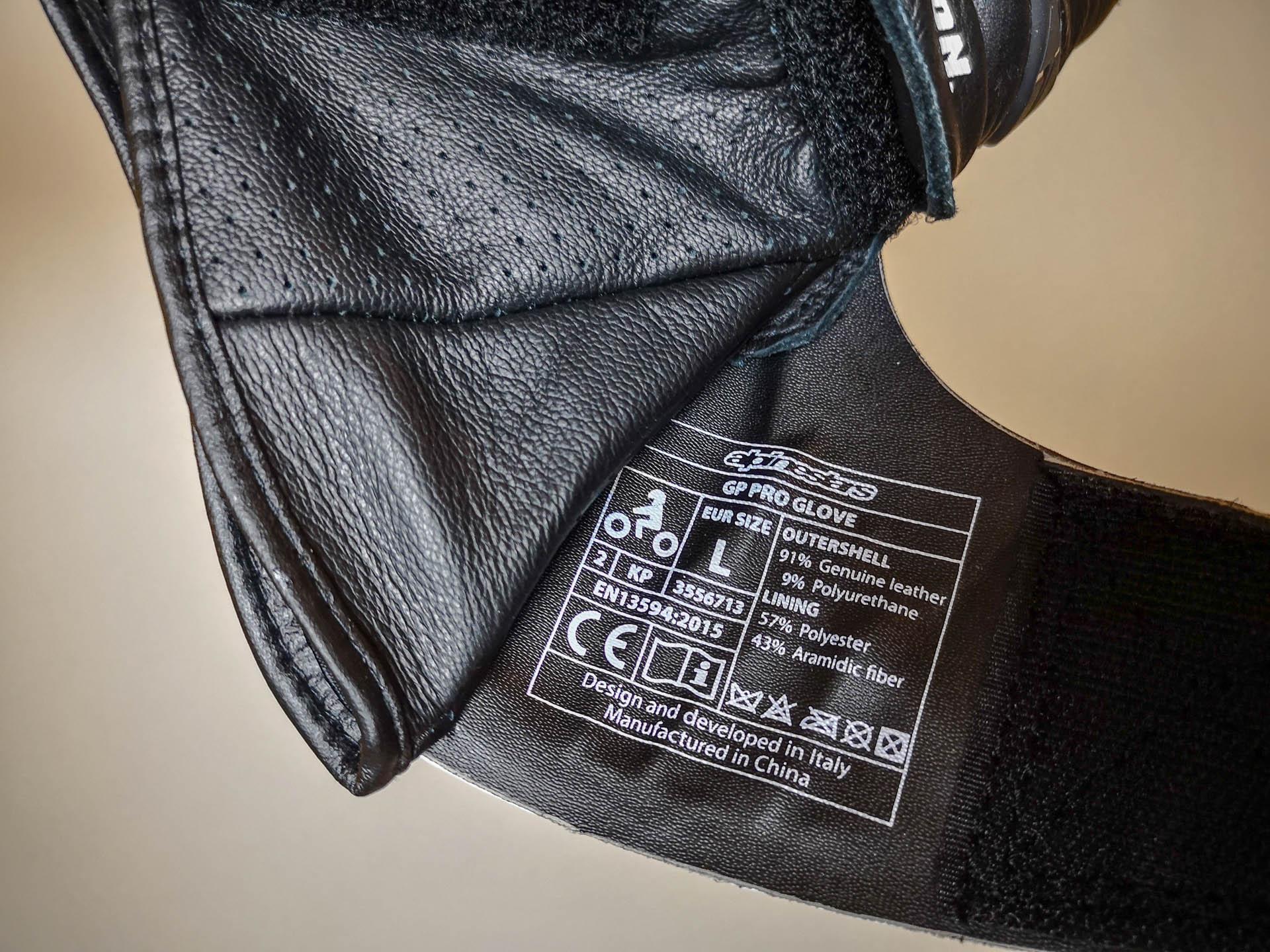 Homologation 2KP pour les gants racing Alpinestars GP Pro