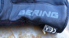 Logo Bering imprimés sur le cuir des gants hiver Bering Yucca