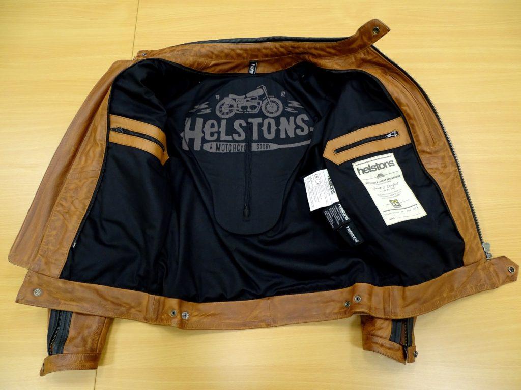 Intérieur du blouson Helstons Randall