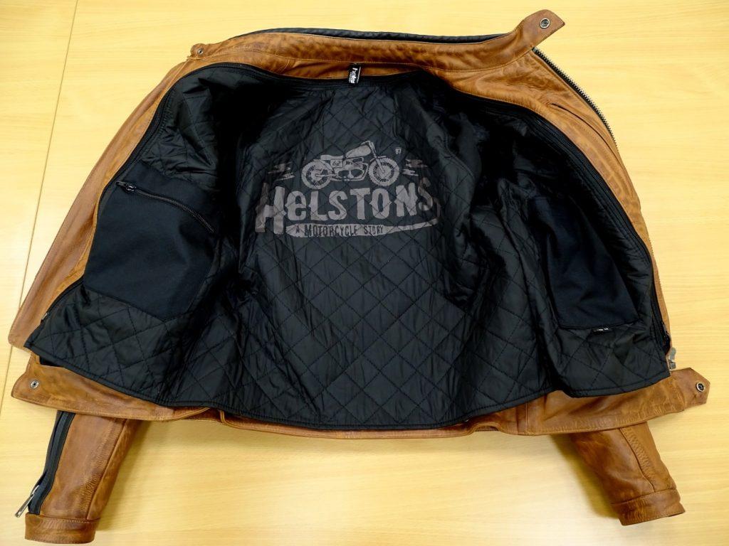 La doublure thermique du blouson Helstons Randall contient de l'aluminium pour une isolation parfaite