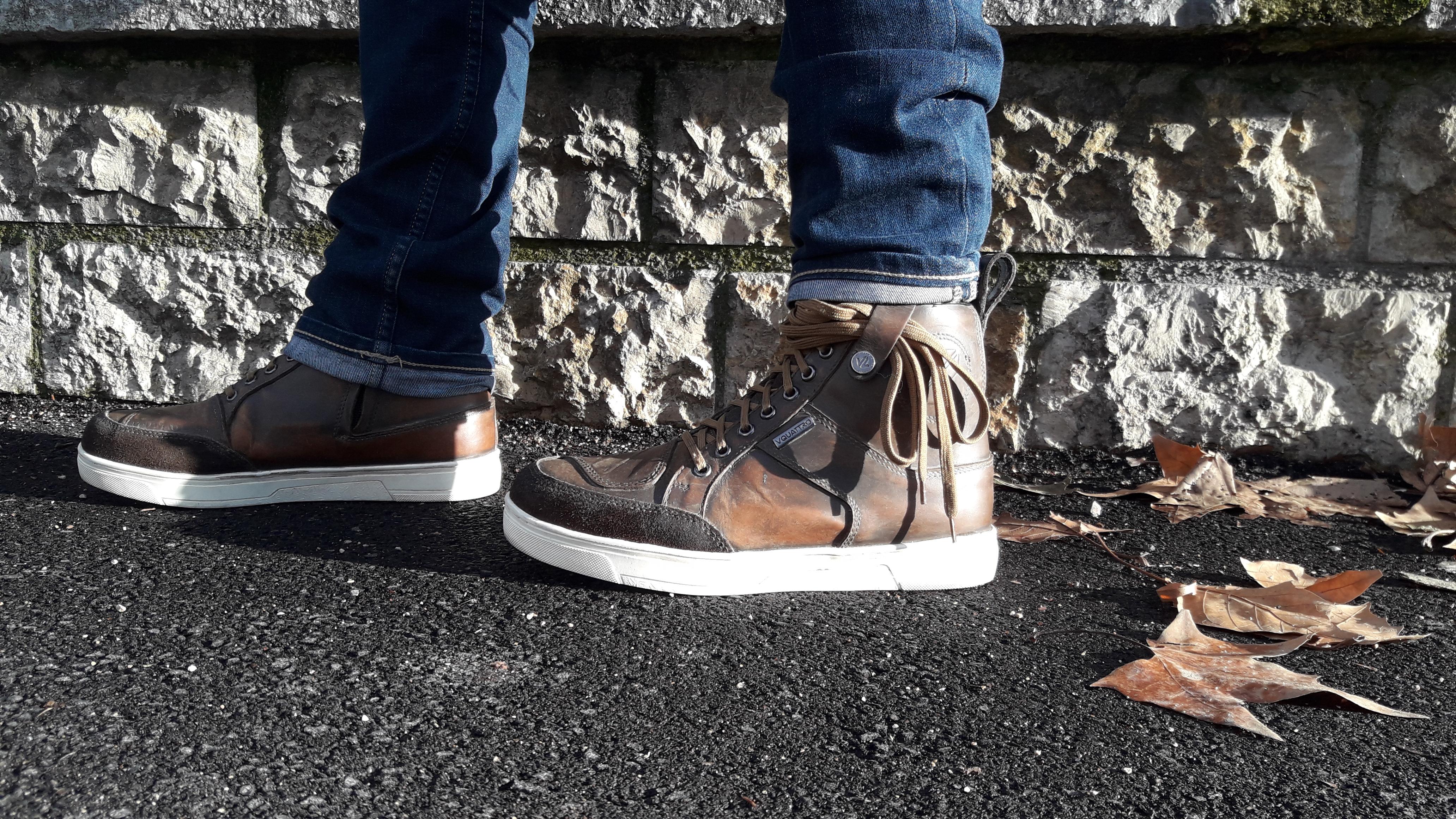 Système retenue des lacets sur les chaussures V Quattro X-Urban