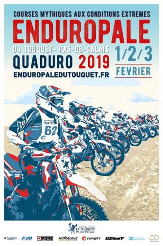Affiche officielle de l'Enduropale 2019
