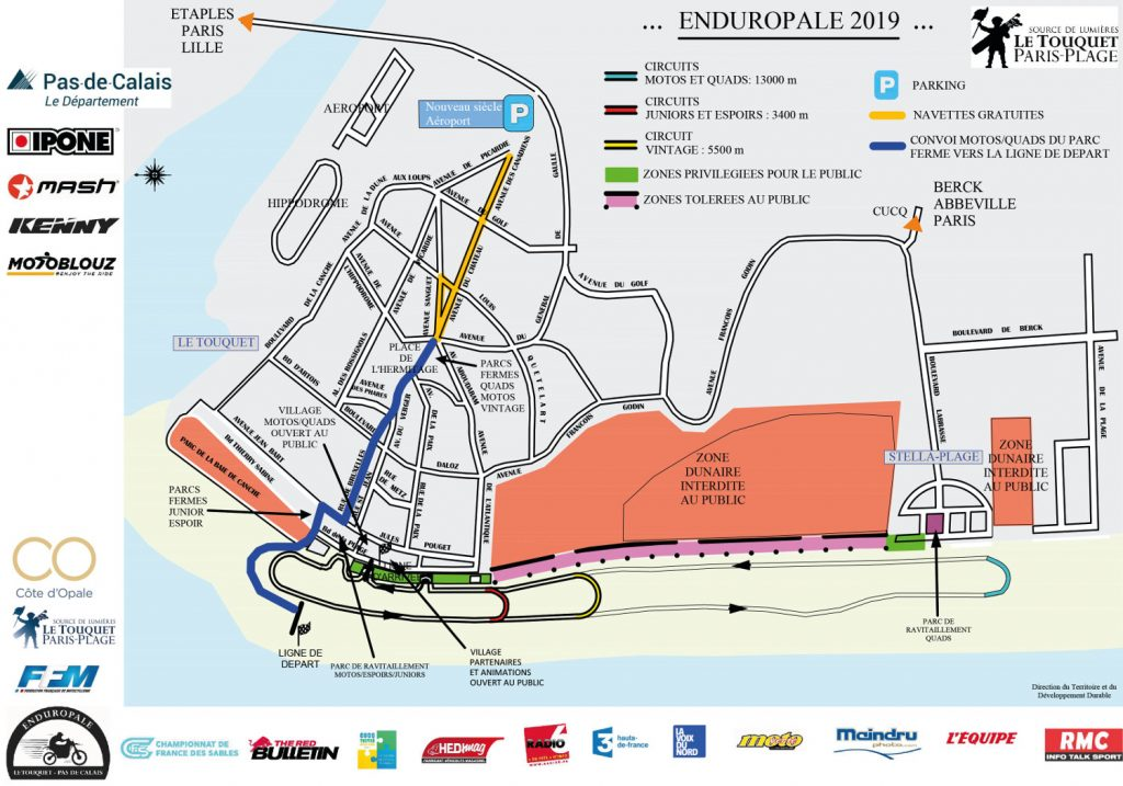 Plan officiel de l'Enduropale 2019