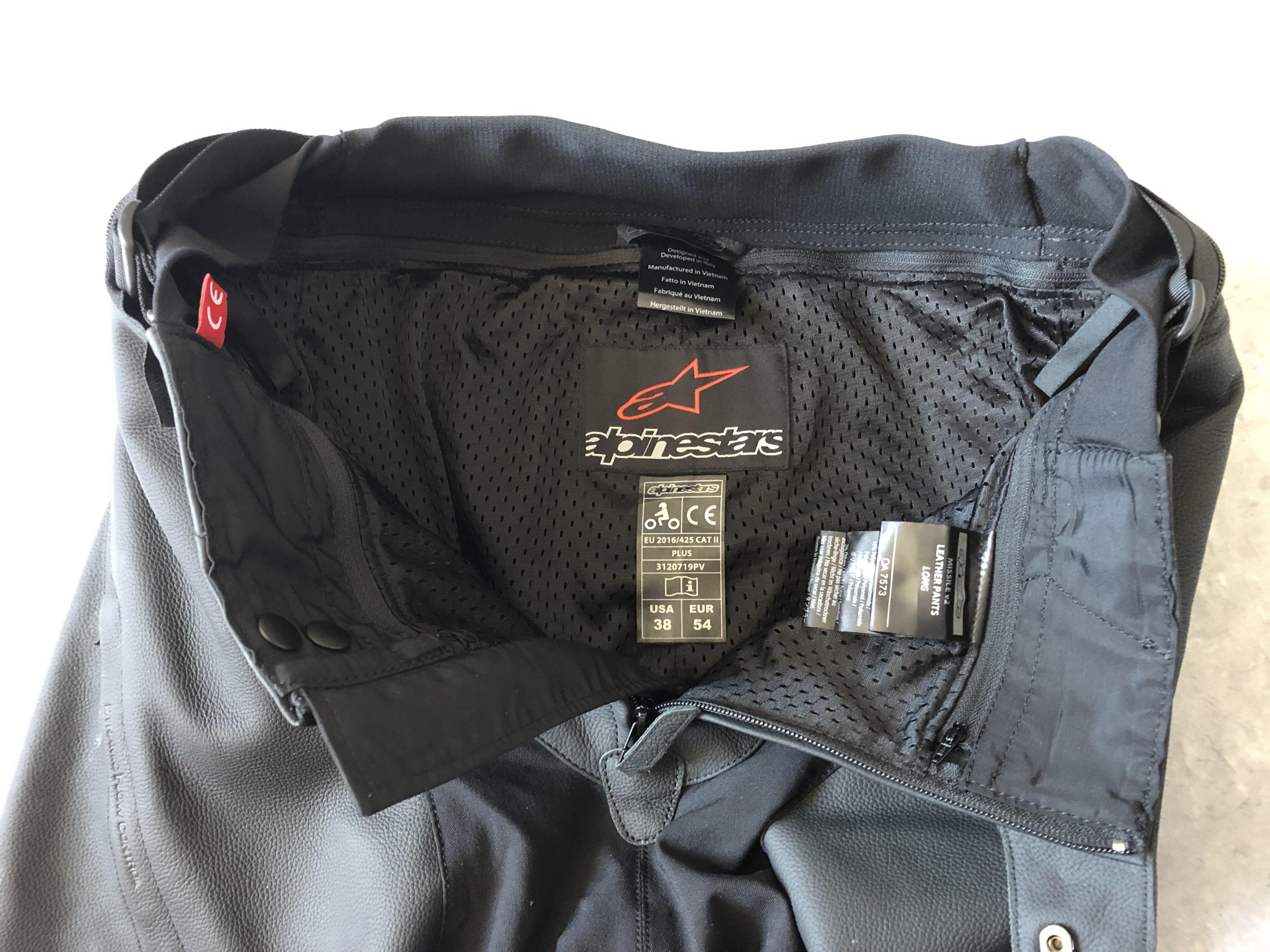 Doublure mesh pour le pantalon Alpinestars Missile V2