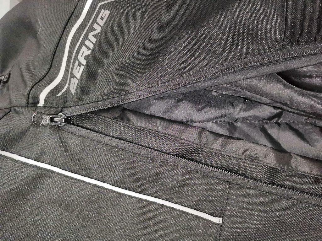 Ouverture de la doublure du pantalon Bering Dusty