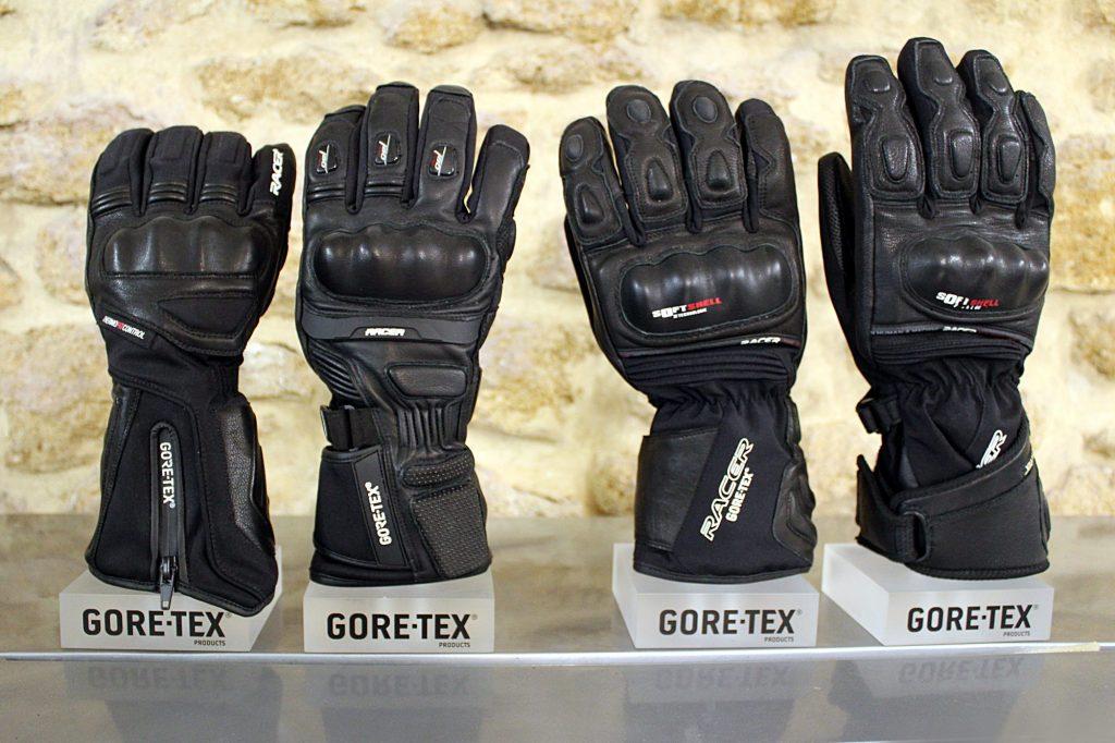 Quatre générations d'une même paire de gants, les Racer Dynamic Gore-Tex