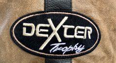 Focus sur un des logos DXR du blouson DXR D63