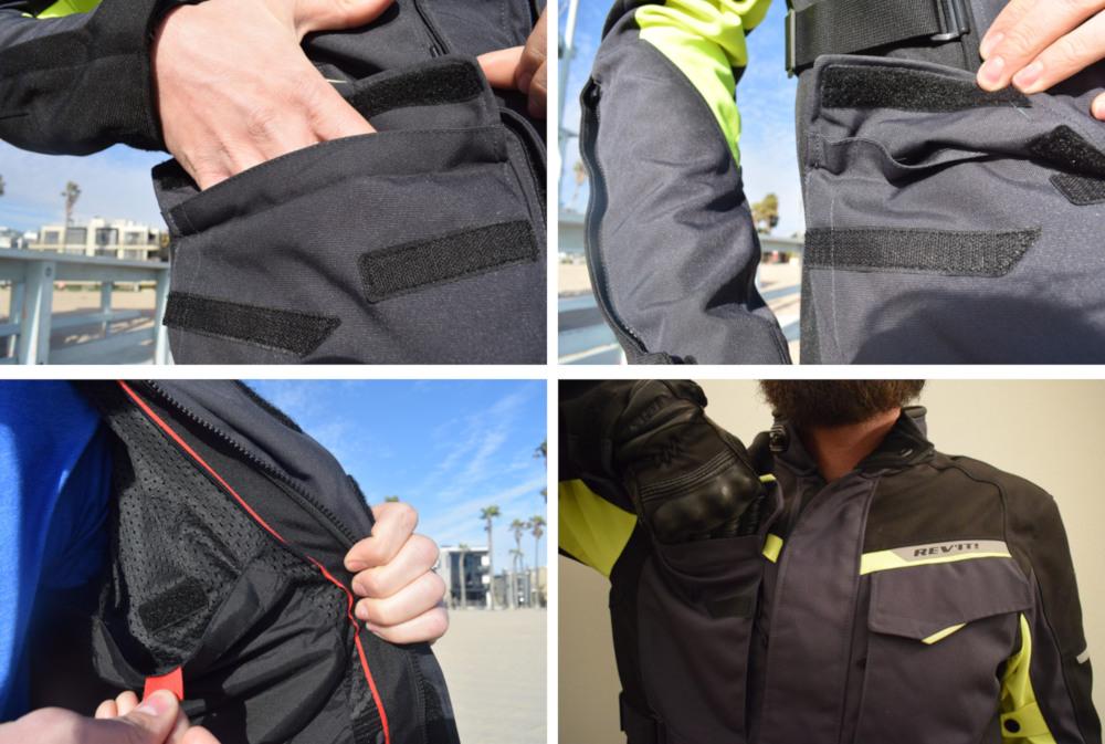 Les poches du blouson Rev'it Outback 2