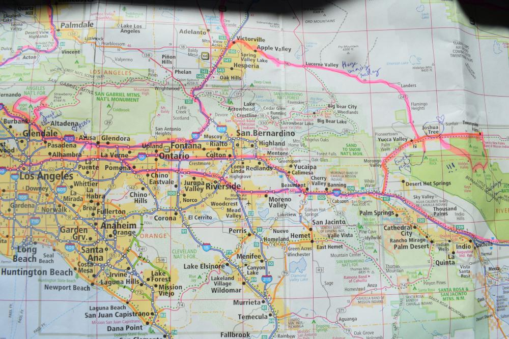 Route Los Angeles – Parc National de Joshua Tree