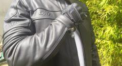 Détails du blouson en cuir DXR DEAN